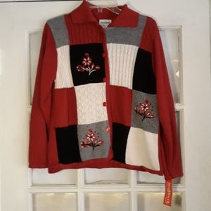Bonworth floral patchwork sweater